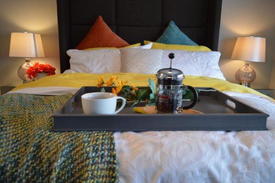 camera da letto di un B&B