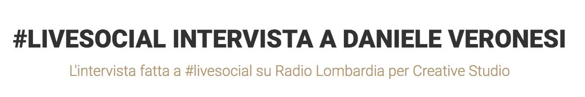 recensione intervista live social radio