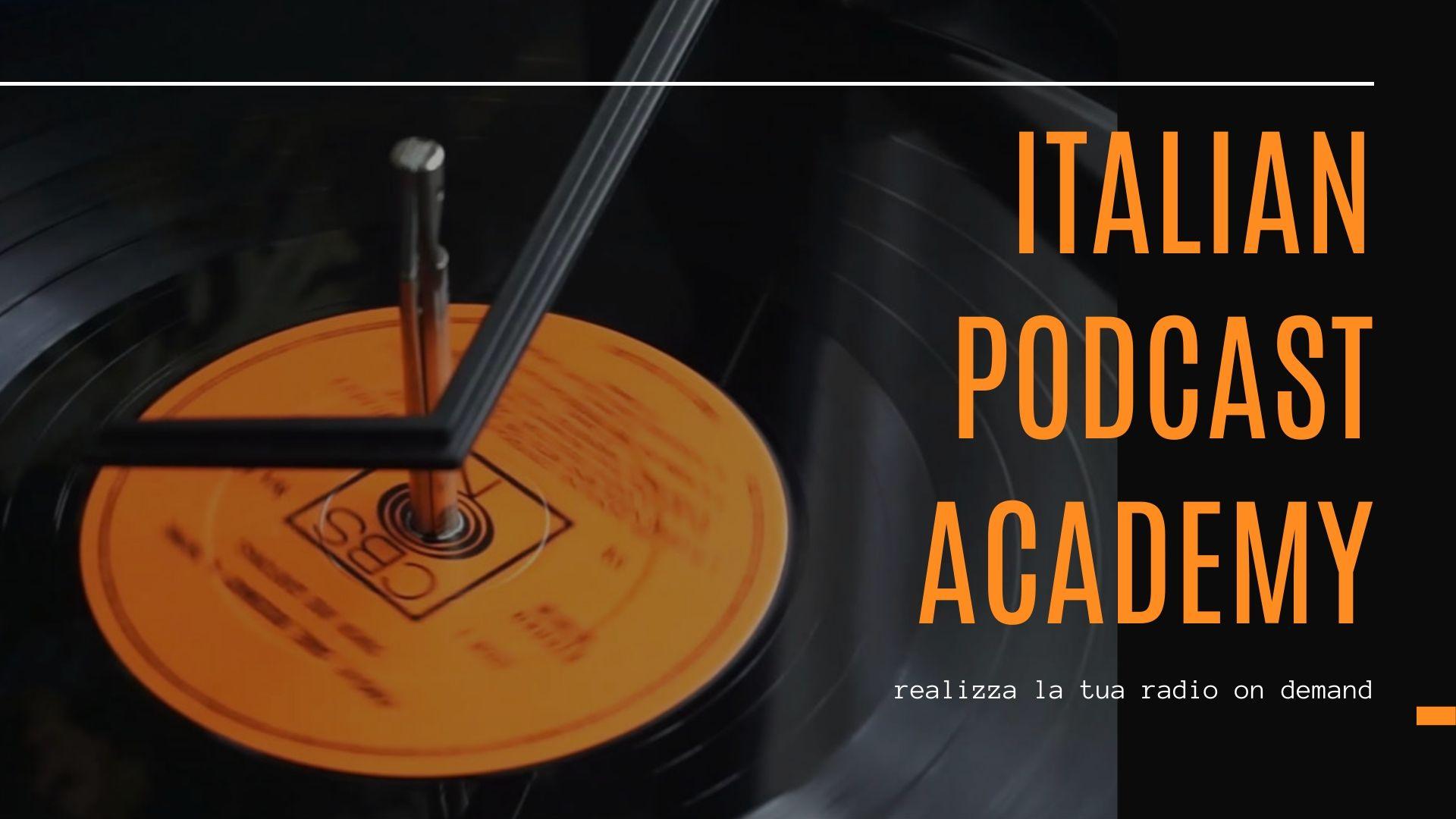 live social italian podcast academy